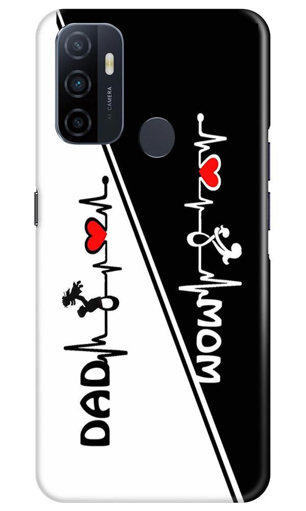 Love Mom Dad Mobile Back Case for Oppo A33 (Design - 385)