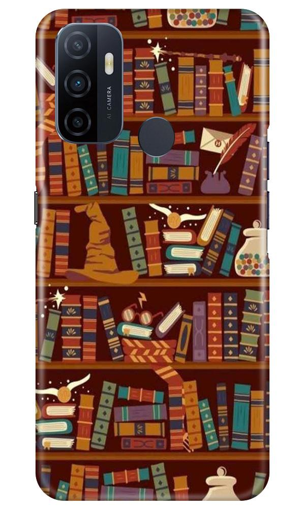Book Shelf Mobile Back Case for Oppo A33 (Design - 390)