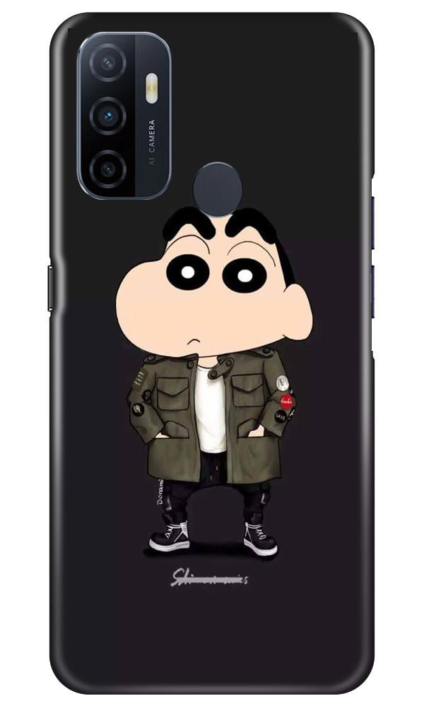 Shin Chan Mobile Back Case for Oppo A33 (Design - 391)