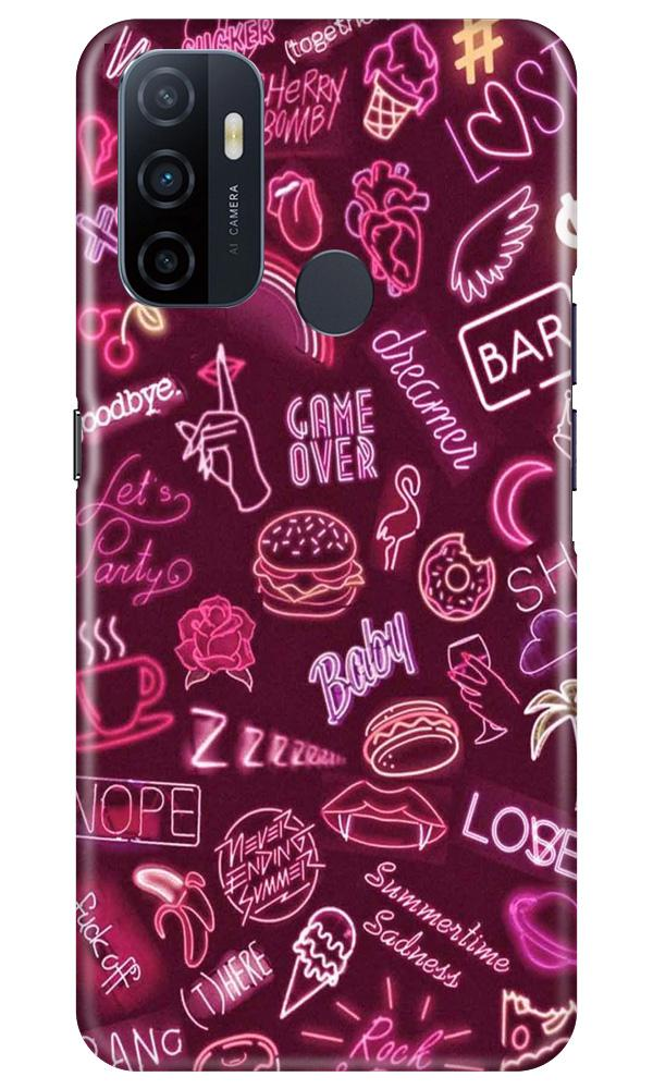 Party Theme Mobile Back Case for Oppo A53 (Design - 392)
