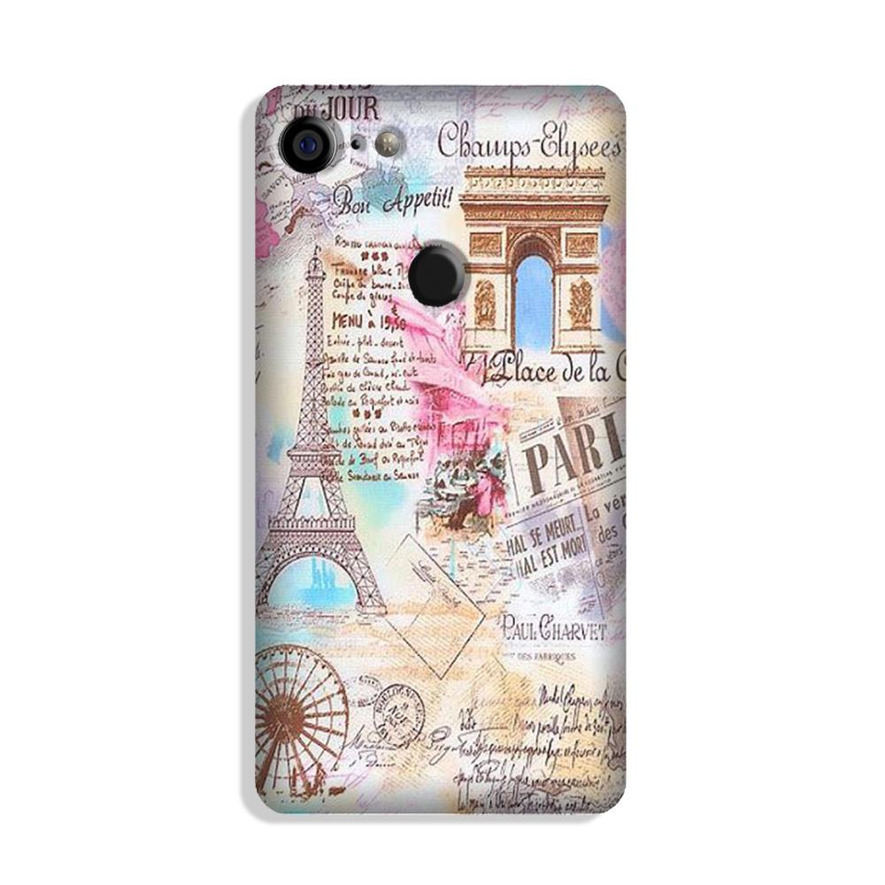 Paris Eiftel Tower Case for Google Pixel 3