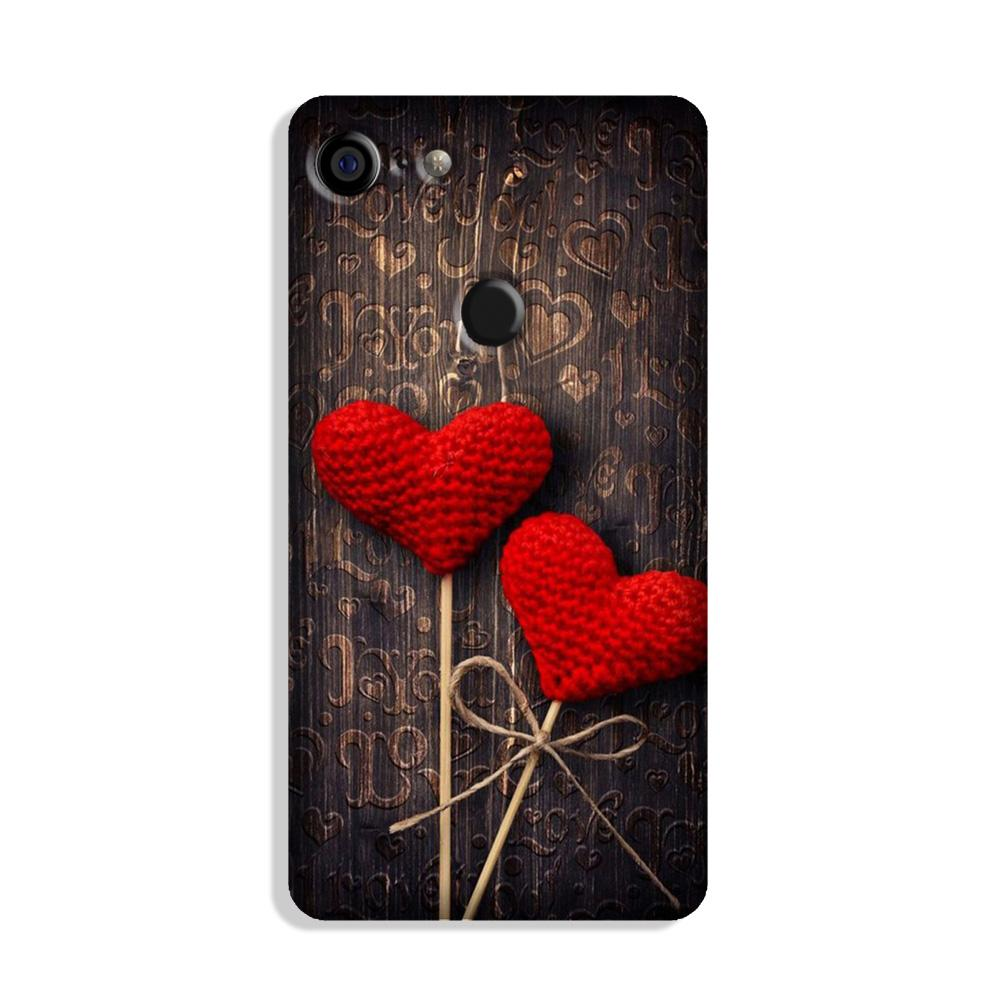 Red Hearts Case for Google Pixel 3