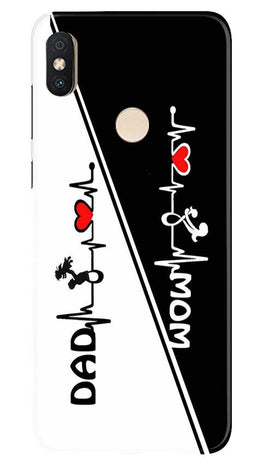 Love Mom Dad Mobile Back Case for Redmi Y2 (Design - 385)
