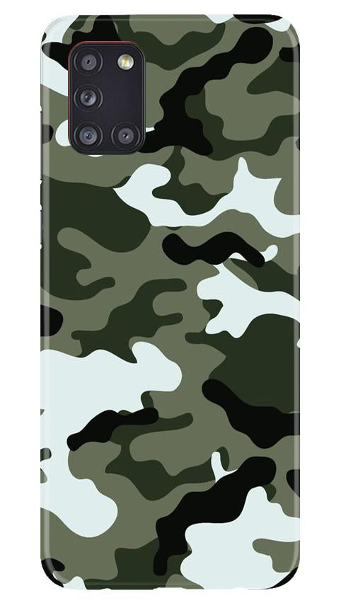 Army Camouflage Case for Samsung Galaxy A31  (Design - 108)