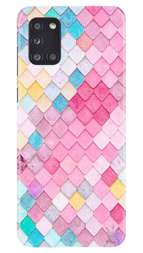 Pink Pattern Case for Samsung Galaxy A31 (Design No. 215)