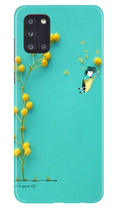 Flowers Girl Case for Samsung Galaxy A31 (Design No. 216)