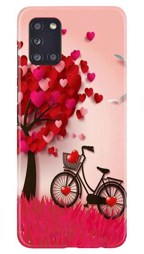 Red Heart Cycle Case for Samsung Galaxy A31 (Design No. 222)