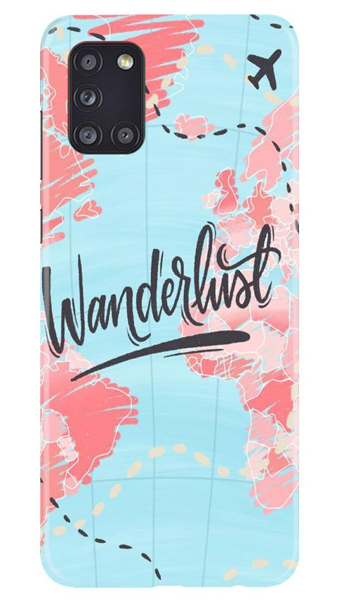 Wonderlust Travel Case for Samsung Galaxy A31 (Design No. 223)