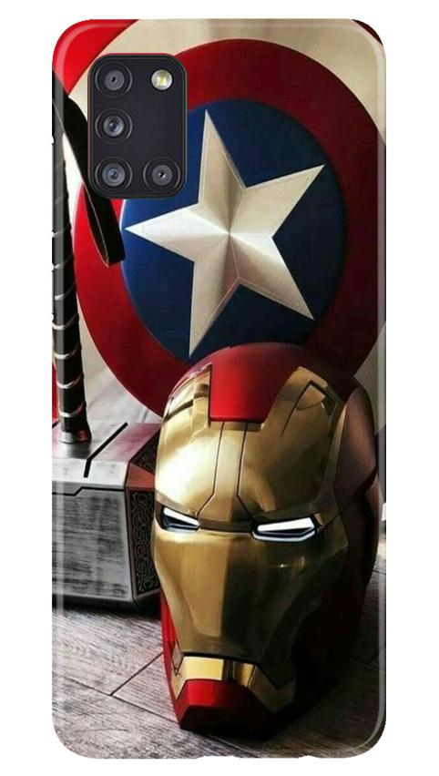 Ironman Captain America Case for Samsung Galaxy A31 (Design No. 254)