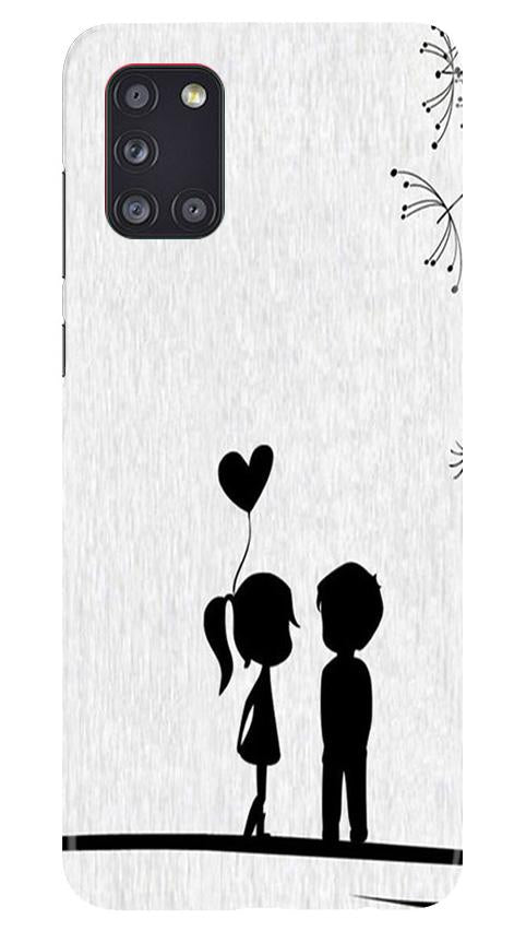 Cute Kid Couple Case for Samsung Galaxy A31 (Design No. 283)