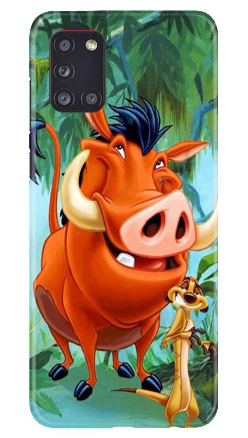 Timon and Pumbaa Mobile Back Case for Samsung Galaxy A31 (Design - 305)