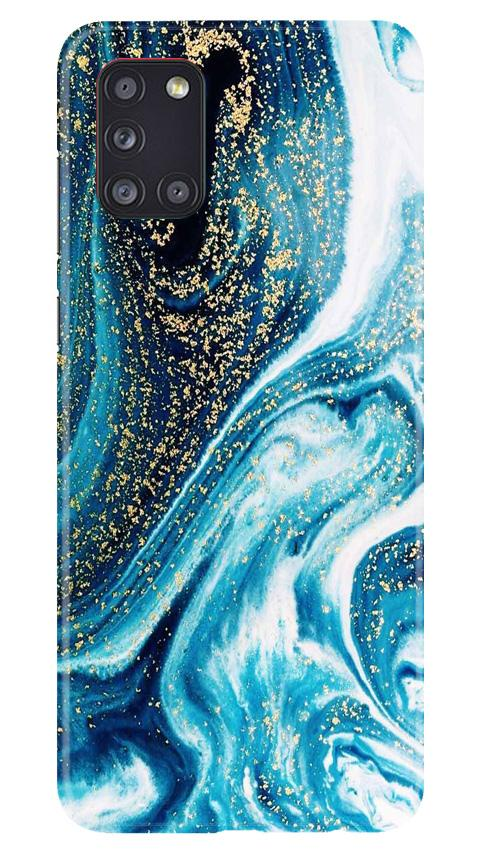 Marble Texture Mobile Back Case for Samsung Galaxy A31 (Design - 308)