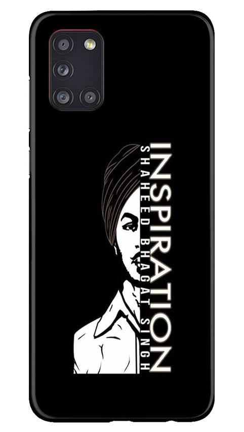 Bhagat Singh Mobile Back Case for Samsung Galaxy A31 (Design - 329)