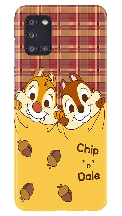 Chip n Dale Mobile Back Case for Samsung Galaxy A31 (Design - 342)