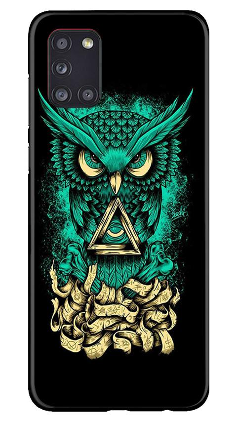 Owl Mobile Back Case for Samsung Galaxy A31 (Design - 358)