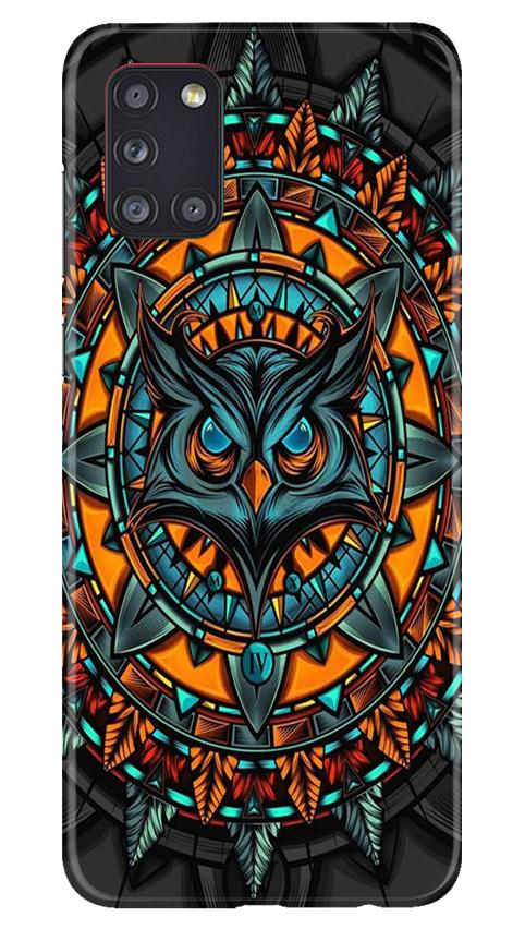 Owl Mobile Back Case for Samsung Galaxy A31 (Design - 360)