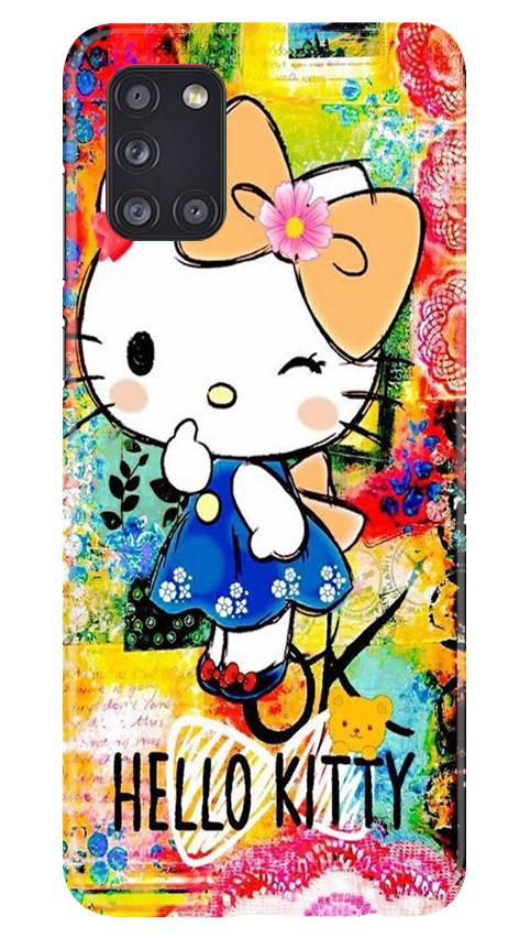 Hello Kitty Mobile Back Case for Samsung Galaxy A31 (Design - 362)
