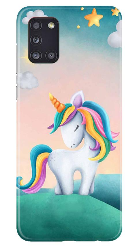 Unicorn Mobile Back Case for Samsung Galaxy A31 (Design - 366)