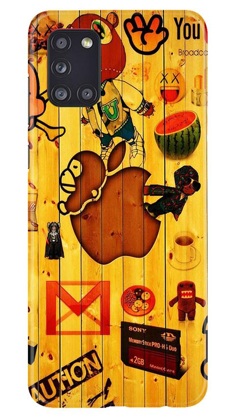 Wooden Texture Mobile Back Case for Samsung Galaxy A31 (Design - 367)