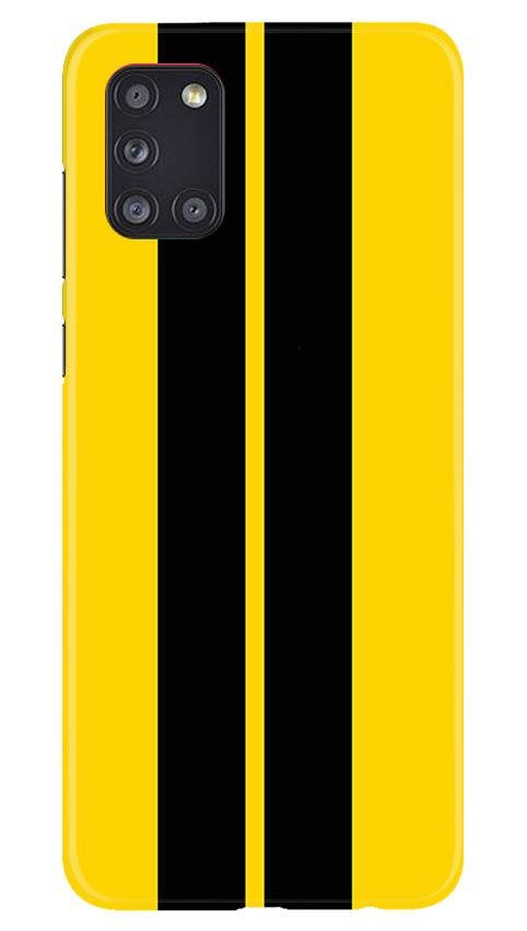 Black Yellow Pattern Mobile Back Case for Samsung Galaxy A31 (Design - 377)