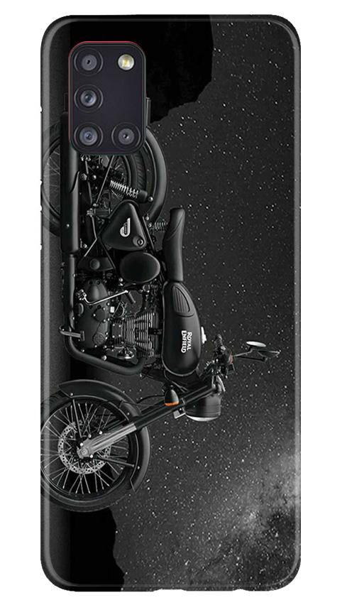 Royal Enfield Mobile Back Case for Samsung Galaxy A31 (Design - 381)