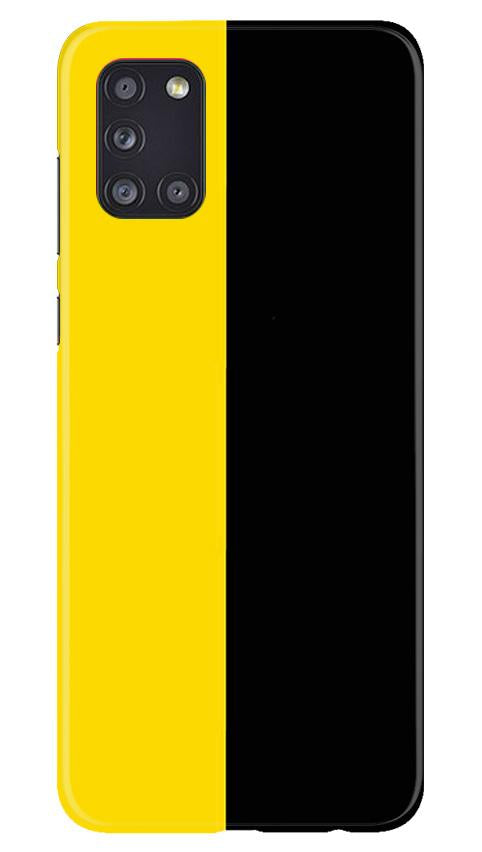 Black Yellow Pattern Mobile Back Case for Samsung Galaxy A31 (Design - 397)