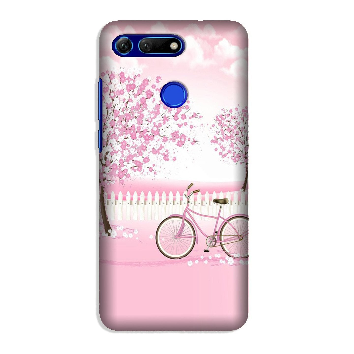 Pink Flowers Cycle Case for Honor View 20  (Design - 102)