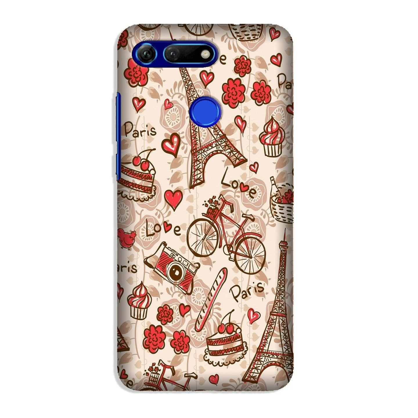Love Paris Case for Honor View 20  (Design - 103)