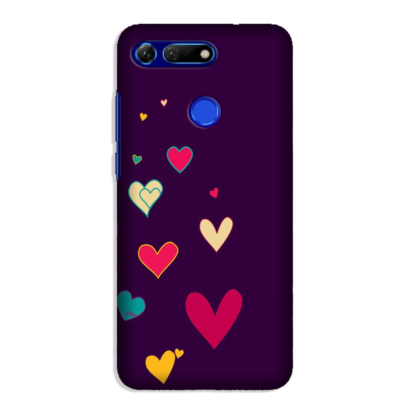 Purple Background Case for Honor View 20  (Design - 107)