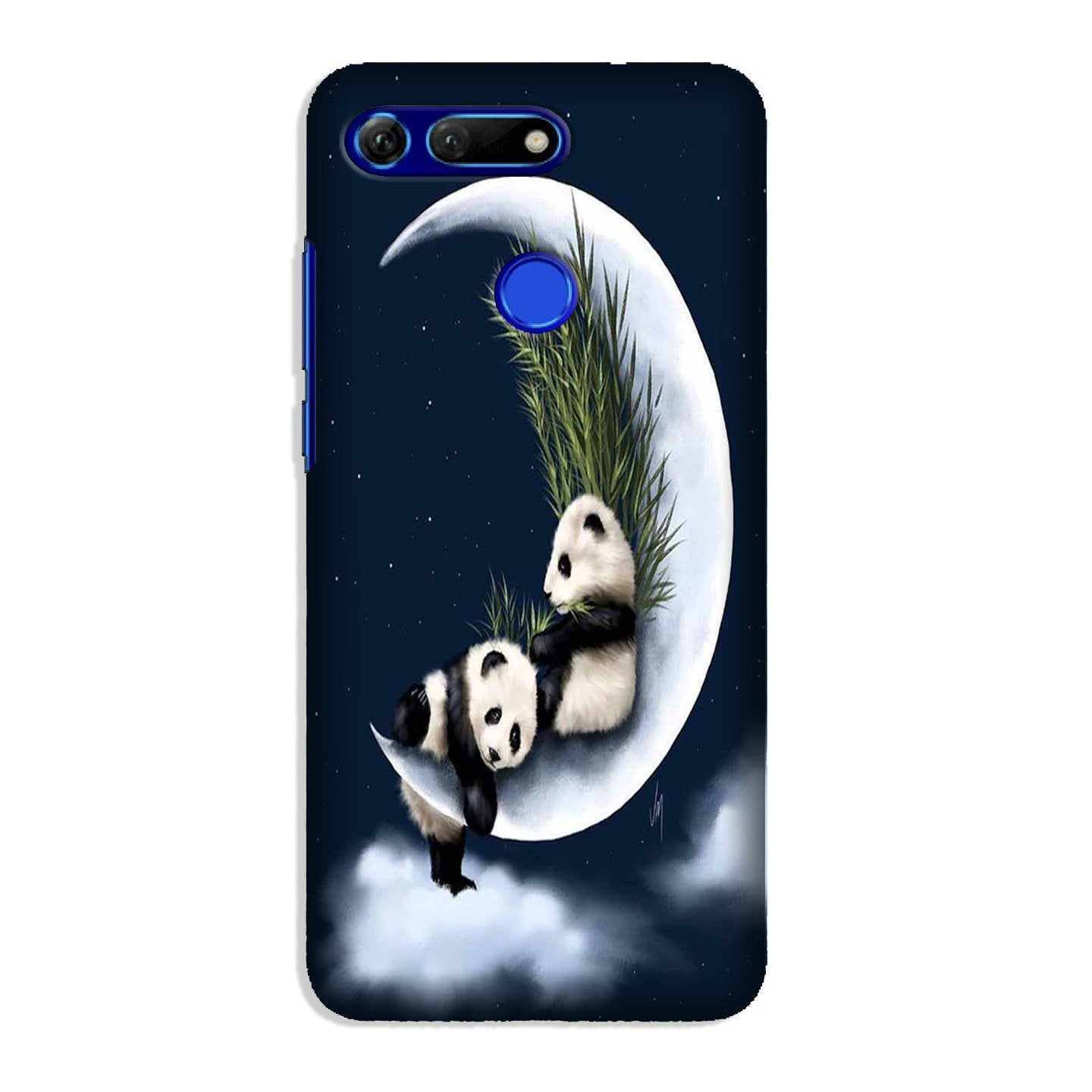 Panda Moon Mobile Back Case for Honor View 20 (Design - 318)