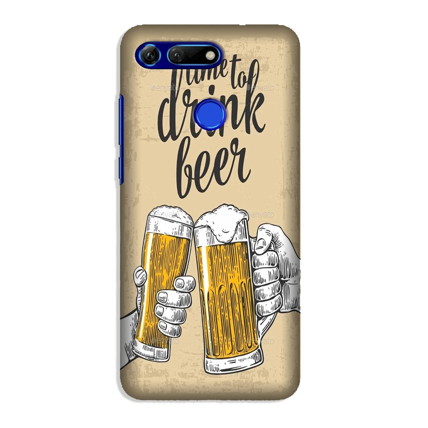 Drink Beer Mobile Back Case for Honor View 20 (Design - 328)