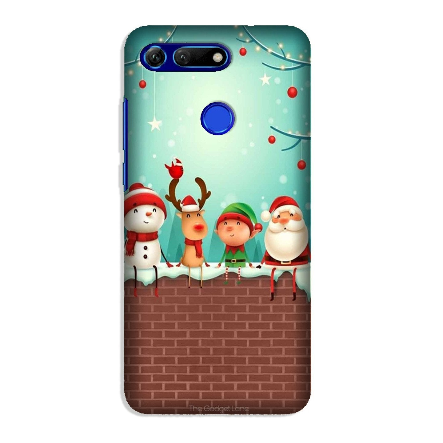 Santa Claus Mobile Back Case for Honor View 20 (Design - 334)