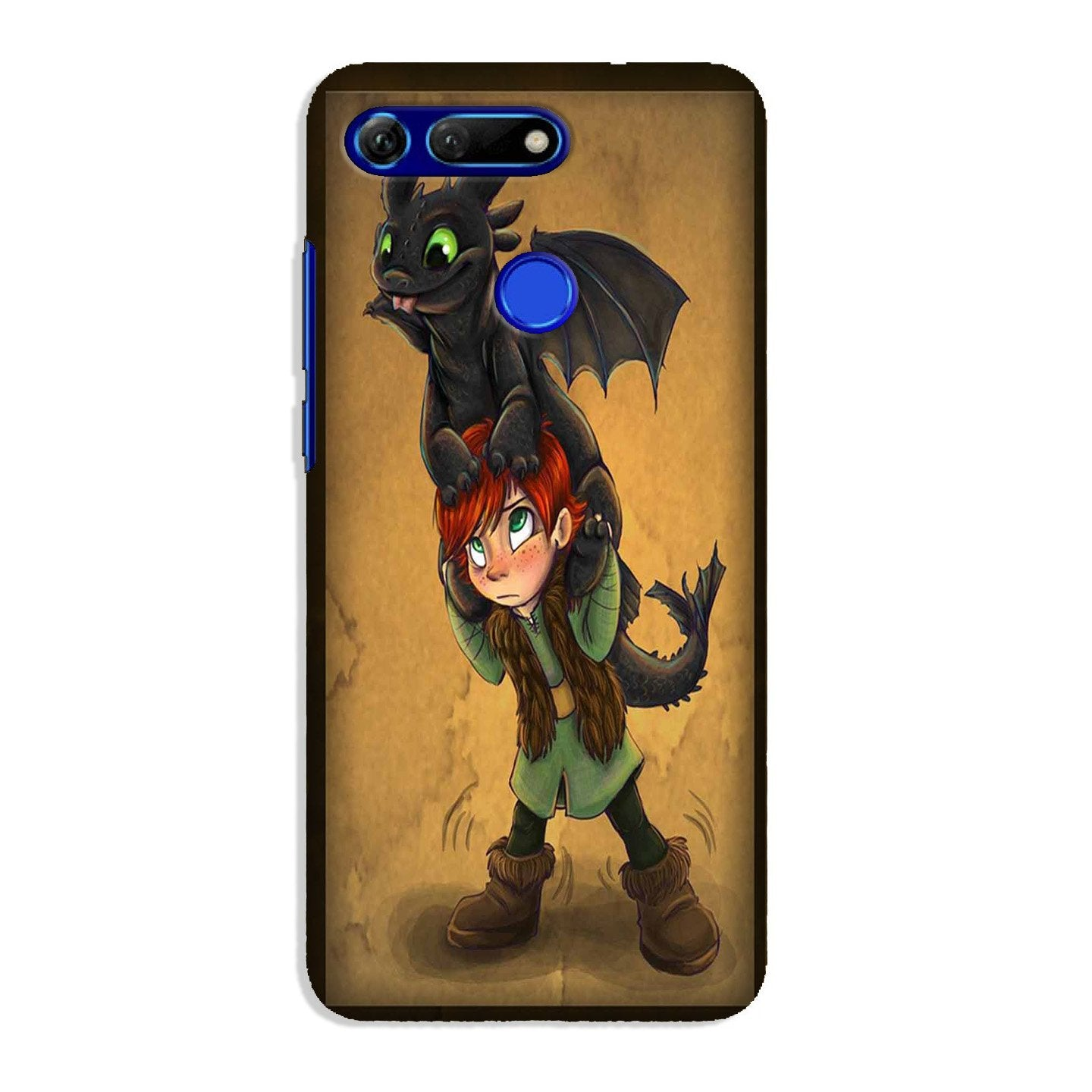 Dragon Mobile Back Case for Honor View 20 (Design - 336)