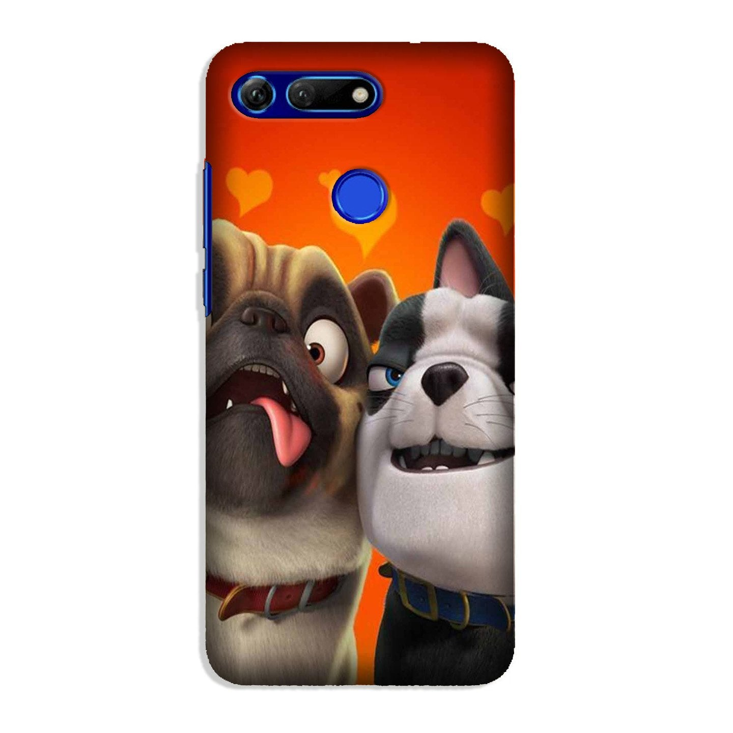 Dog Puppy Mobile Back Case for Honor View 20 (Design - 350)
