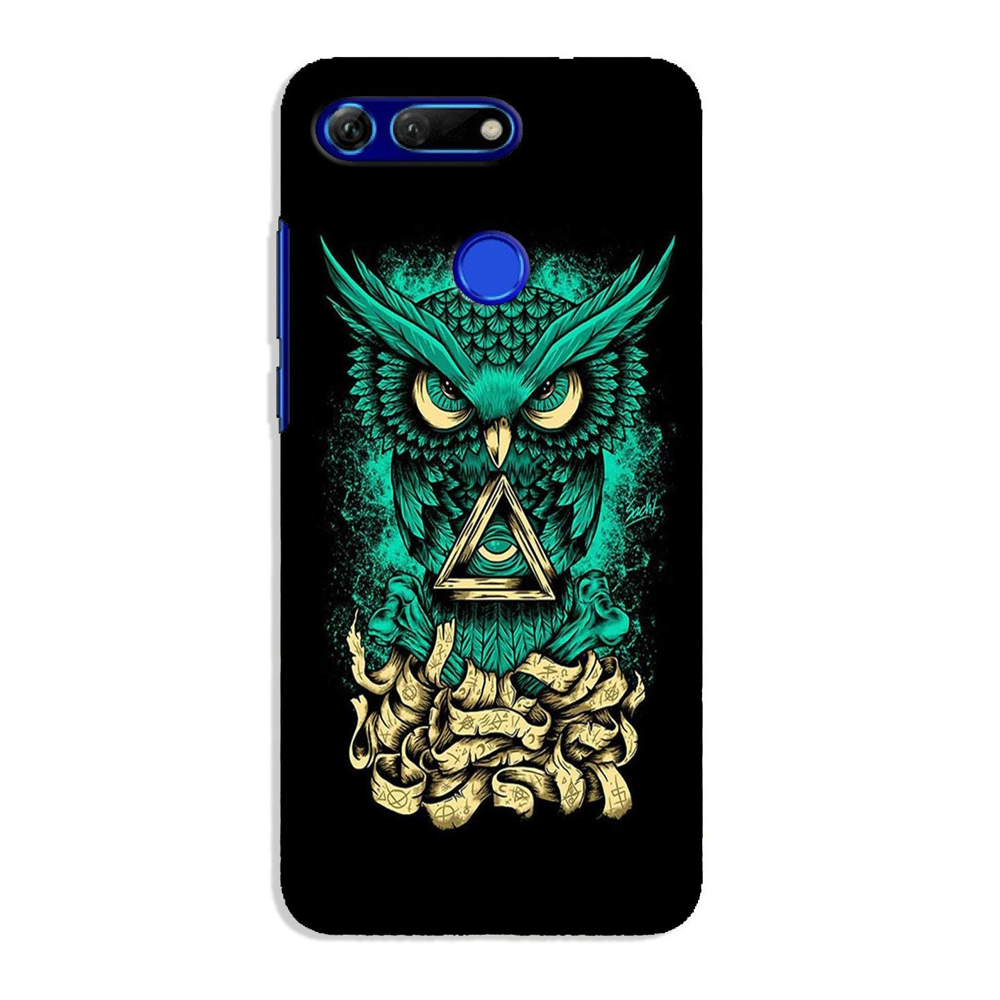 Owl Mobile Back Case for Honor View 20 (Design - 358)