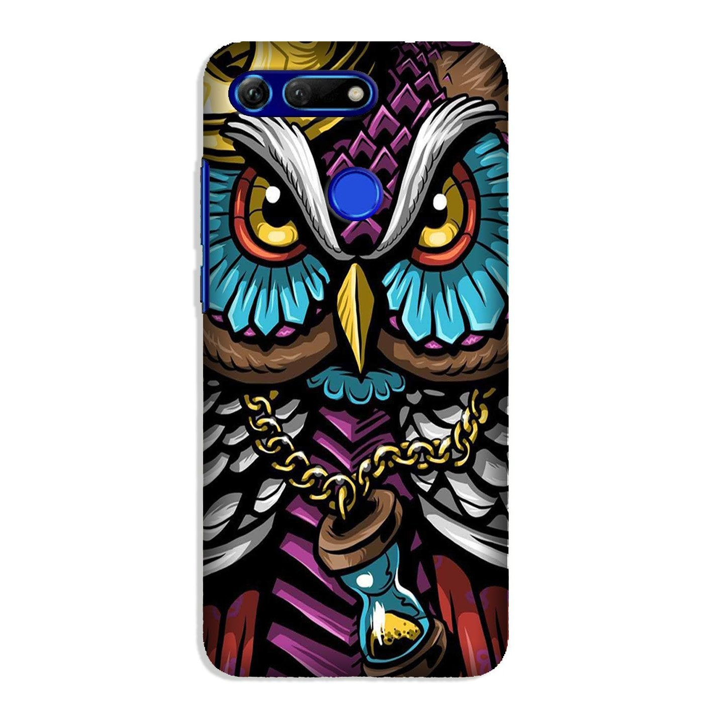 Owl Mobile Back Case for Honor View 20 (Design - 359)