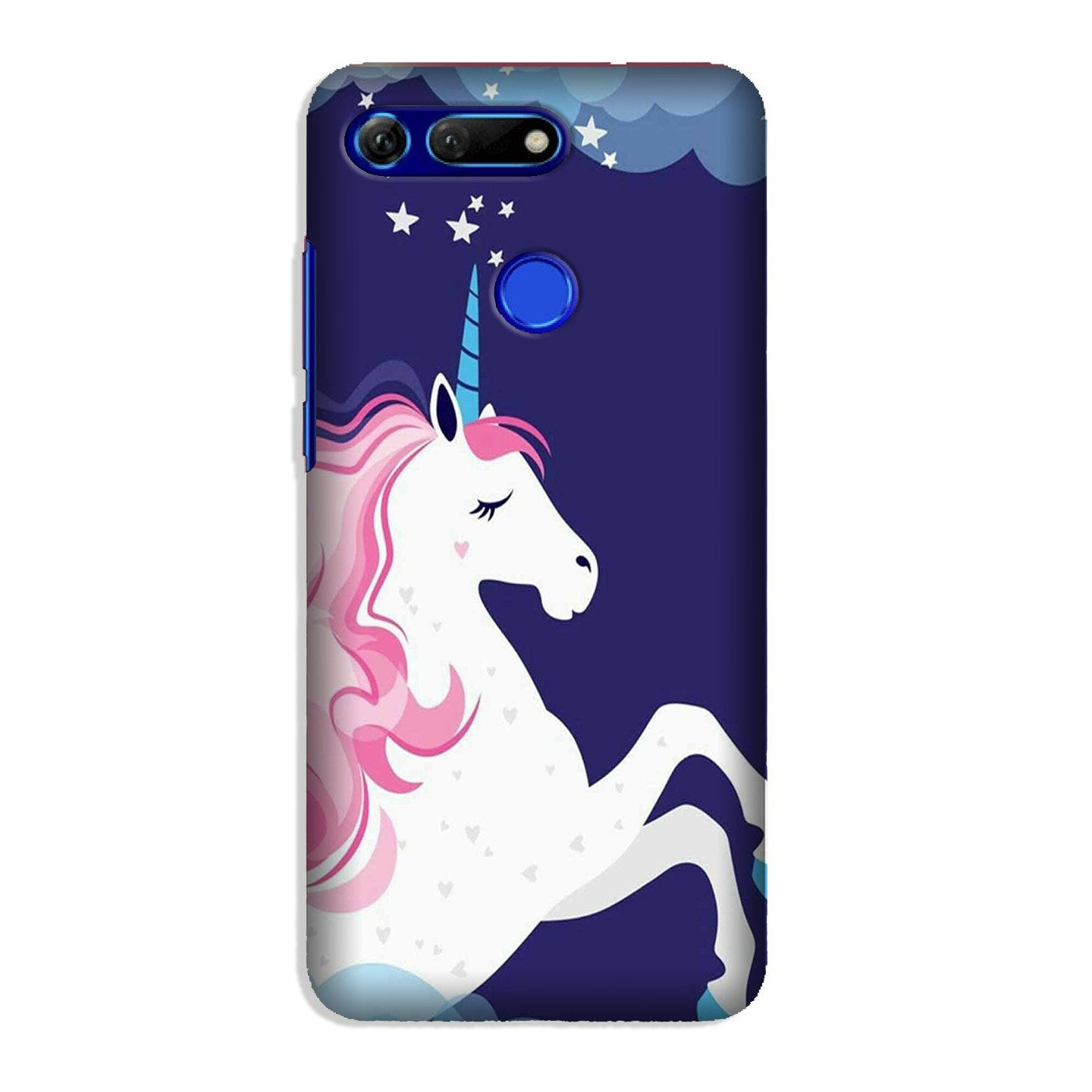 Unicorn Mobile Back Case for Honor View 20 (Design - 365)