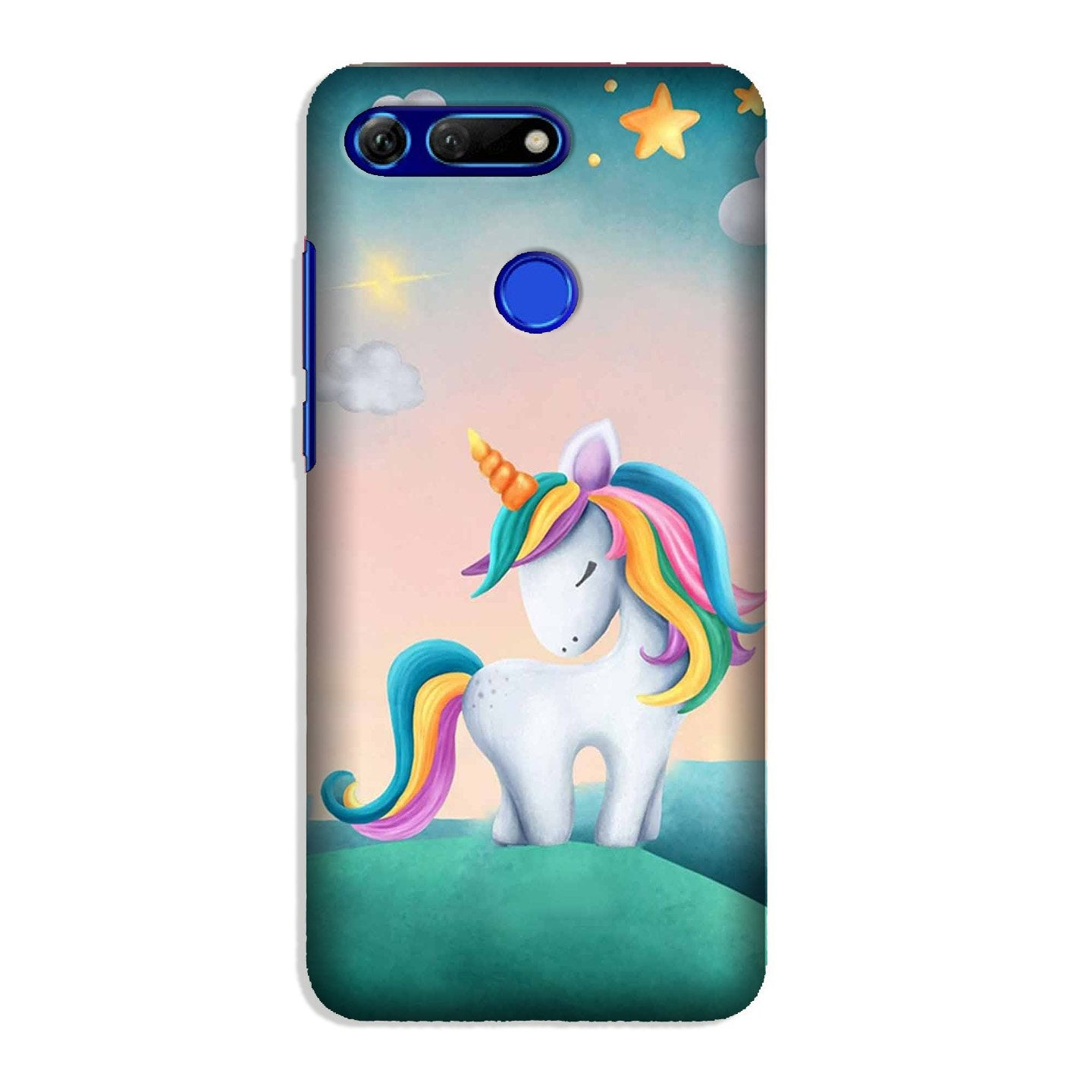 Unicorn Mobile Back Case for Honor View 20 (Design - 366)
