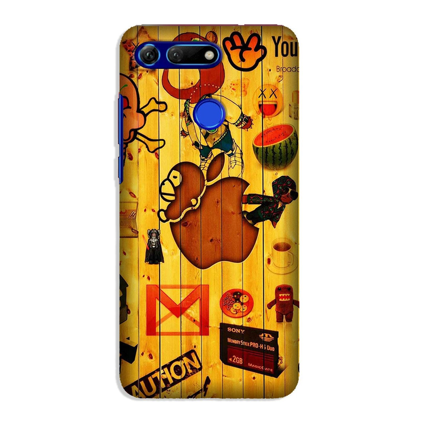 Wooden Texture Mobile Back Case for Honor View 20 (Design - 367)