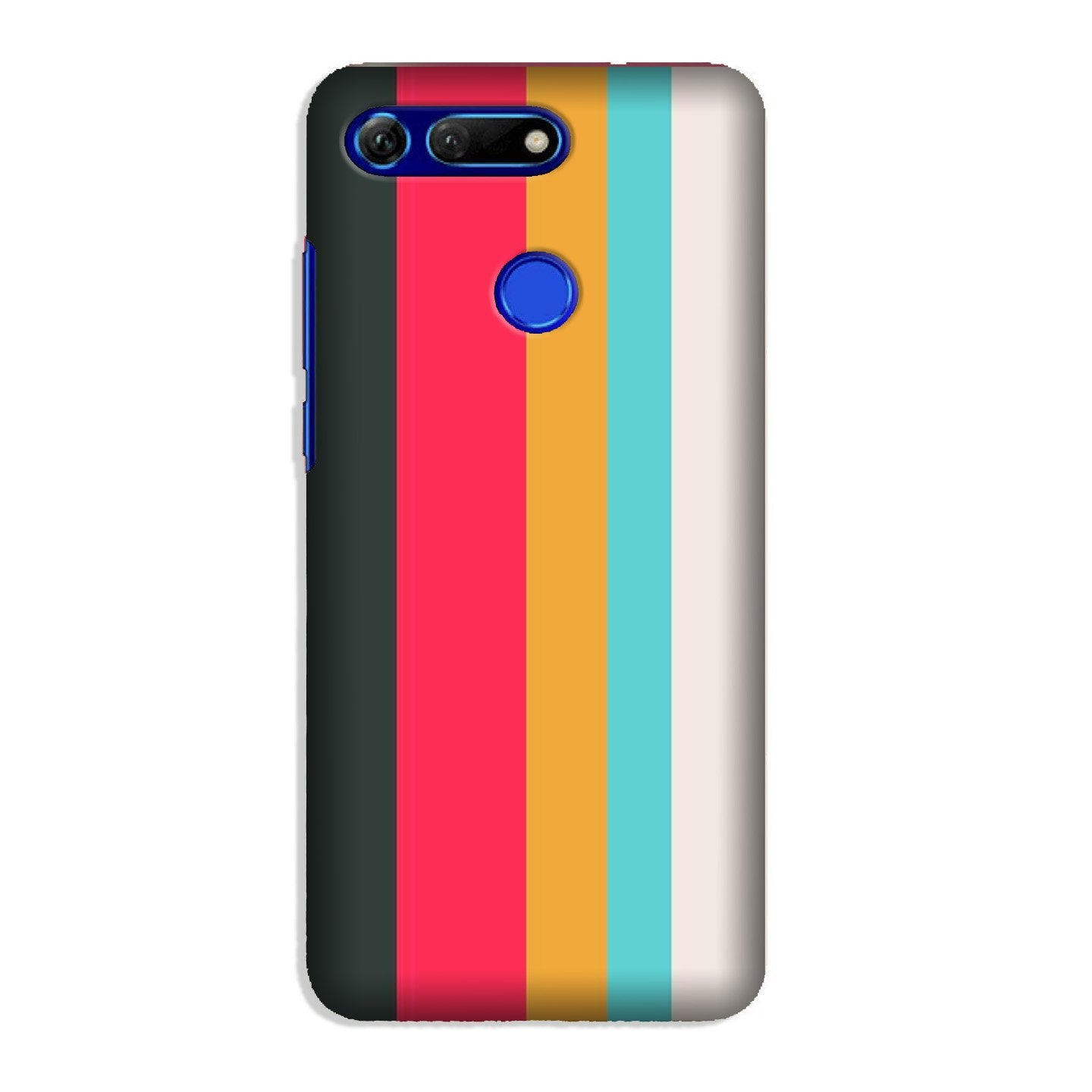 Color Pattern Mobile Back Case for Honor View 20 (Design - 369)
