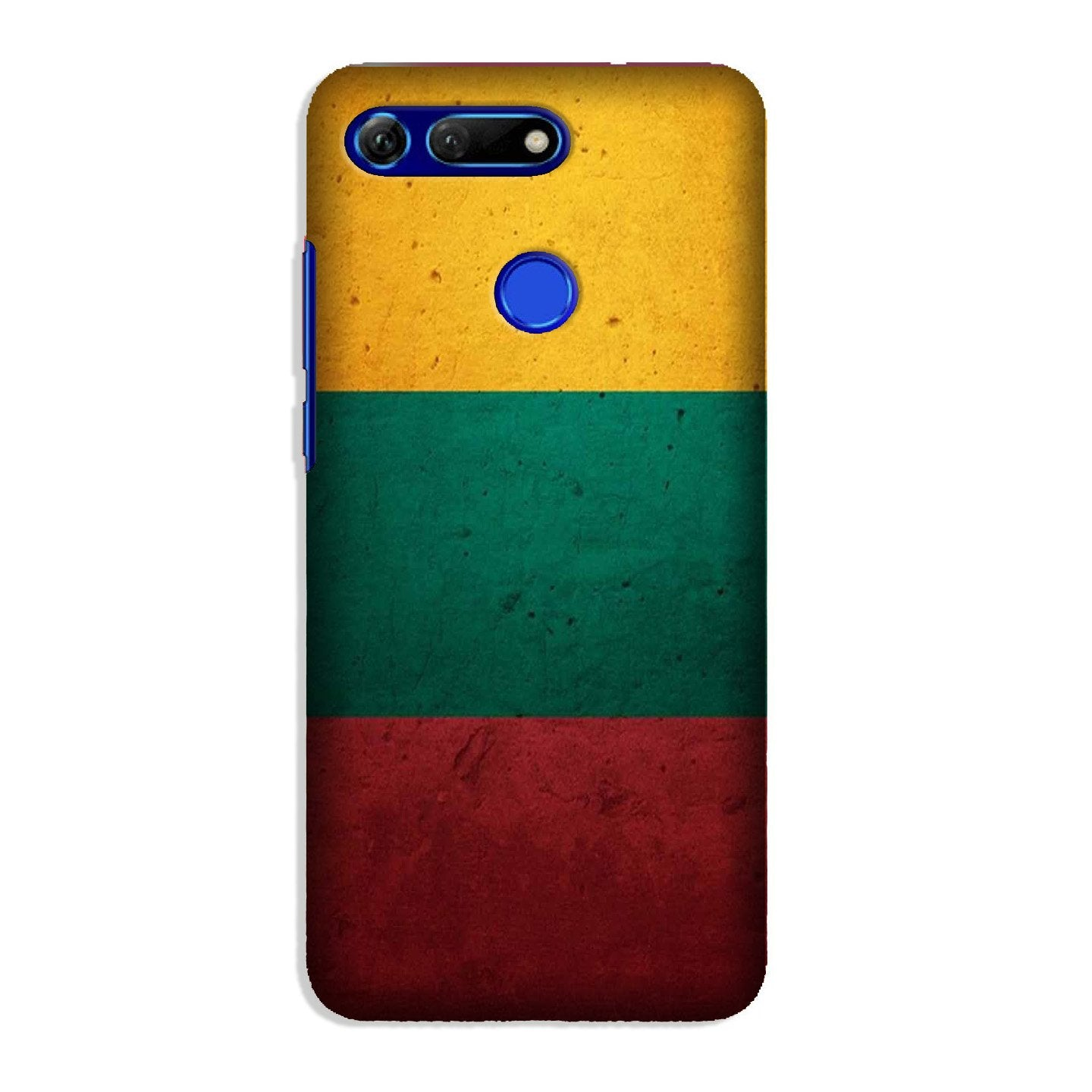 Color Pattern Mobile Back Case for Honor View 20 (Design - 374)