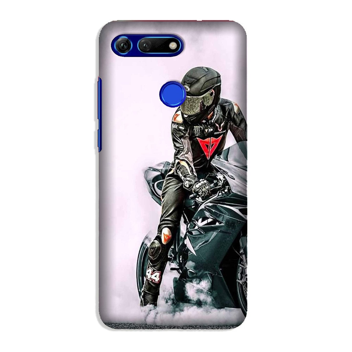 Biker Mobile Back Case for Honor View 20 (Design - 383)
