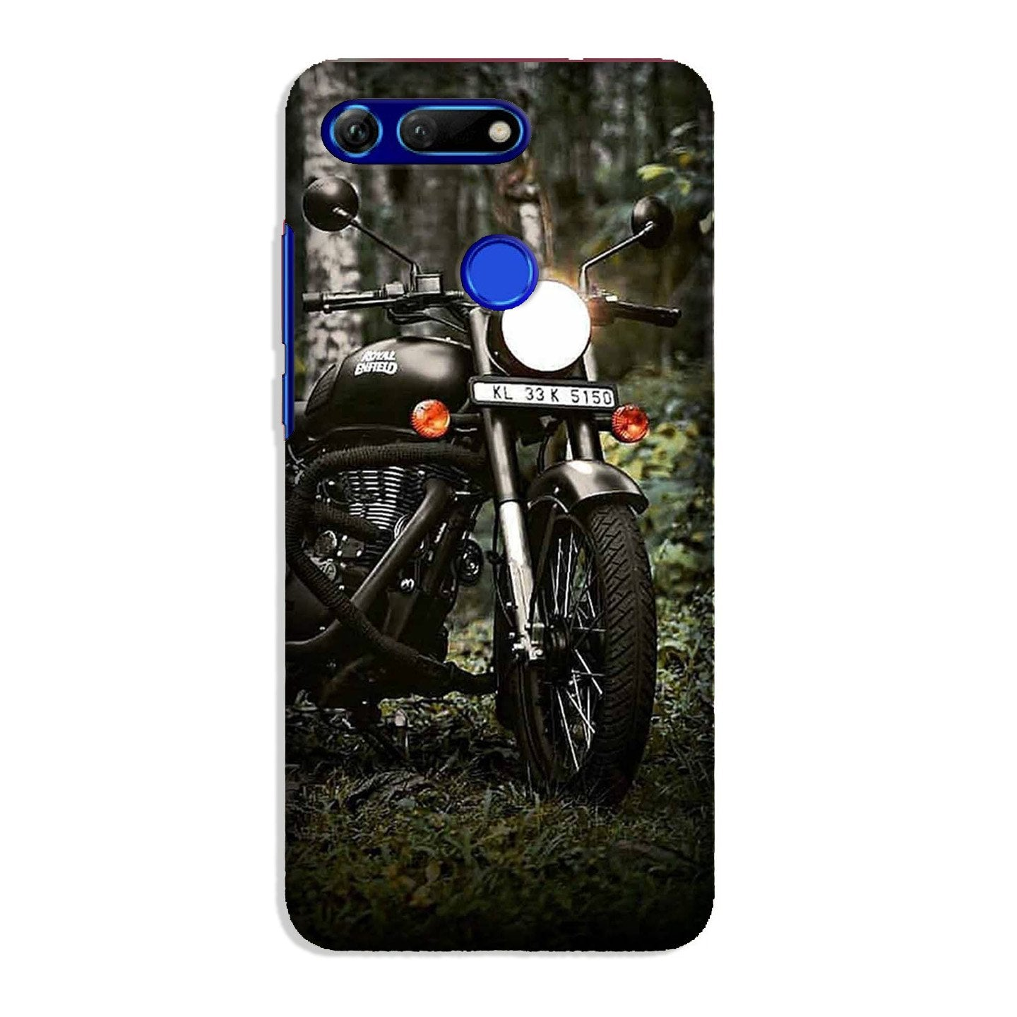 Royal Enfield Mobile Back Case for Honor View 20 (Design - 384)