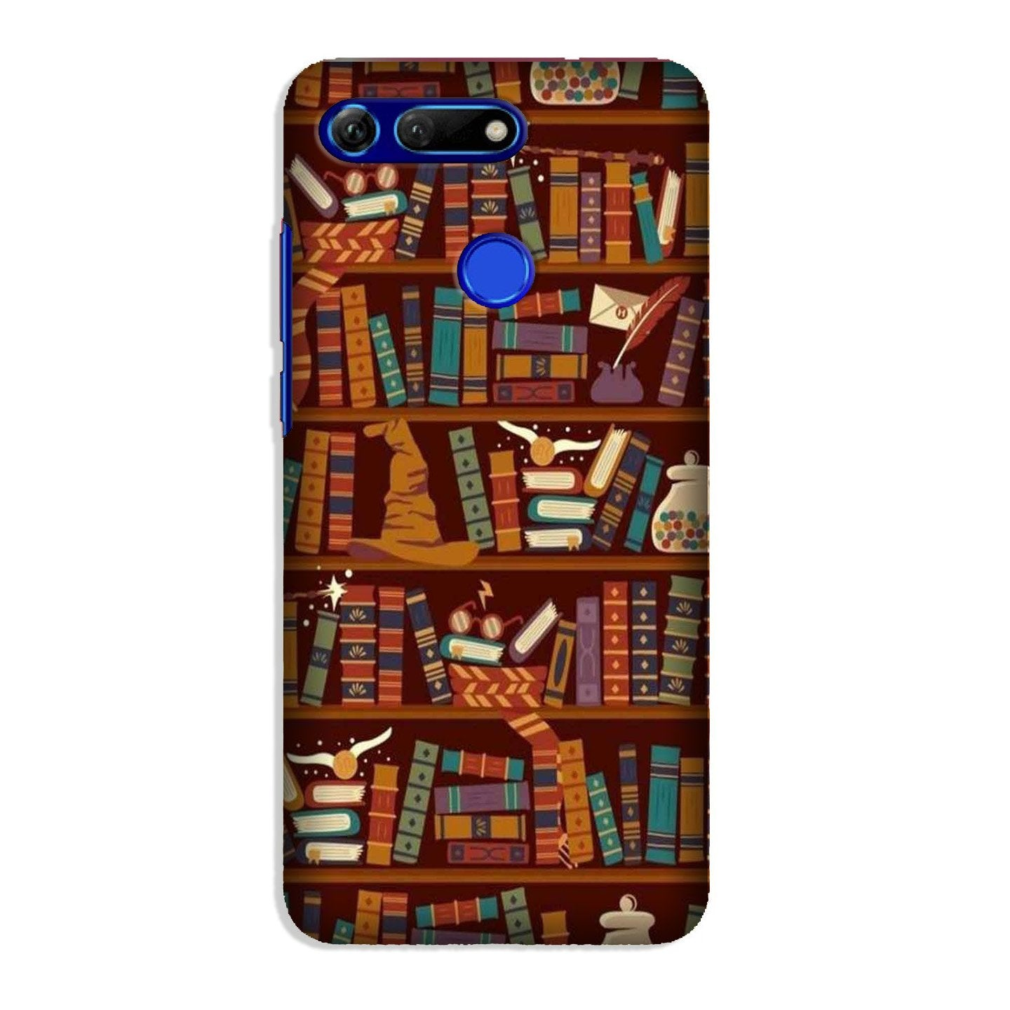 Book Shelf Mobile Back Case for Honor View 20 (Design - 390)