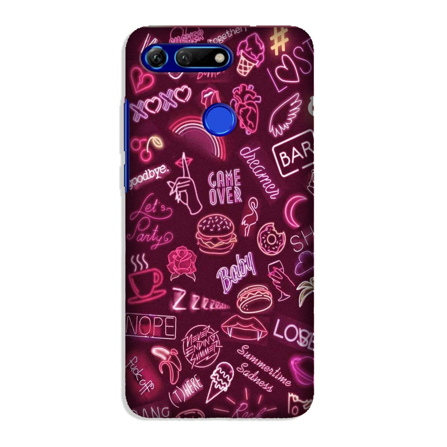 Party Theme Mobile Back Case for Honor View 20 (Design - 392)