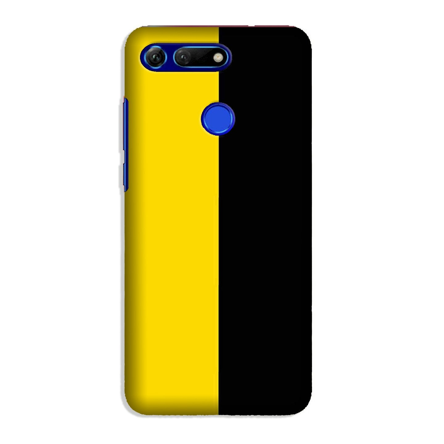 Black Yellow Pattern Mobile Back Case for Honor View 20 (Design - 397)