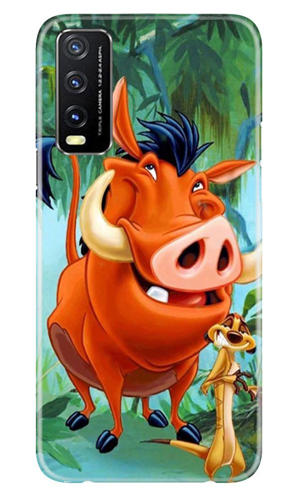 Timon and Pumbaa Mobile Back Case for Vivo Y20G (Design - 305)