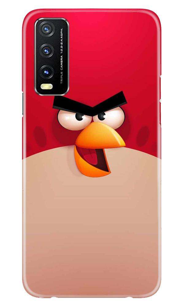 Angry Bird Red Mobile Back Case for Vivo Y20G (Design - 325)