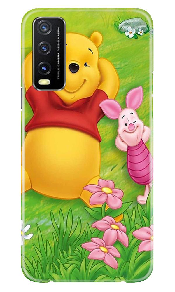 Winnie The Pooh Mobile Back Case for Vivo Y20G (Design - 348)