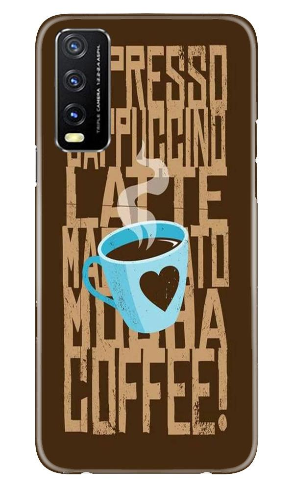Love Coffee Mobile Back Case for Vivo Y20G (Design - 351)